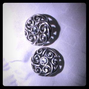 Brighton silver post earrings